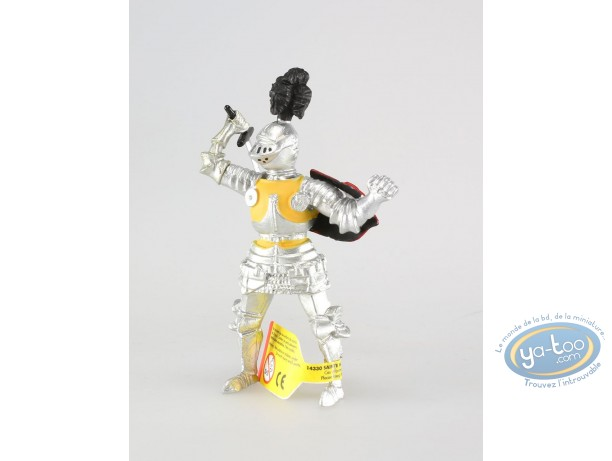 Plastic Figurine, Knight with sword, yellow doublet