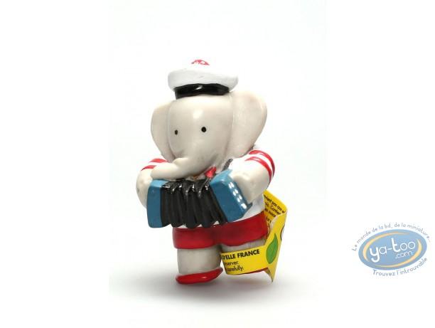 Plastic Figurine, Babar : Arthur playing accordion