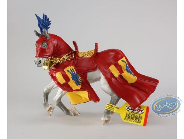 Plastic Figurine, red prancing horse