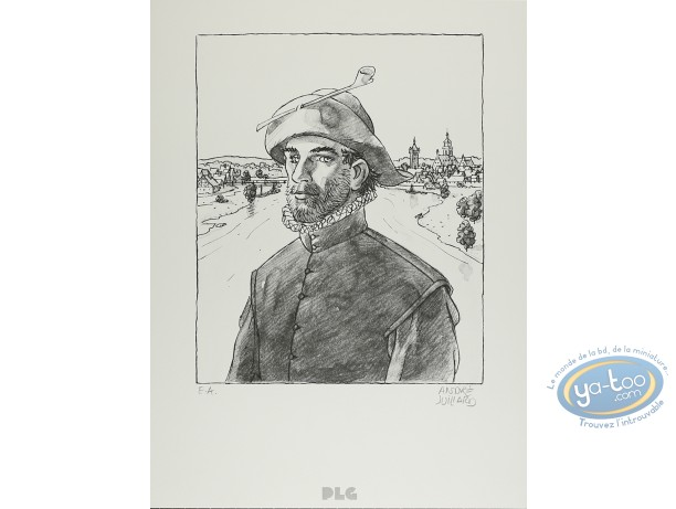 Lithography, André Juillard : Man with a Pipe