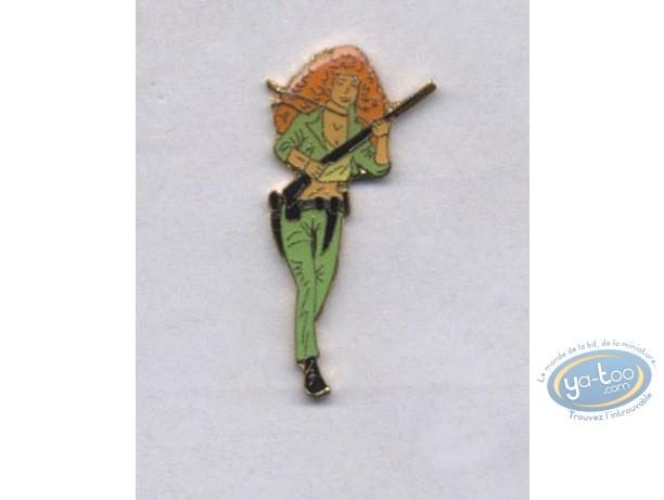 Pin's, Bernard Prince : Pin's, Redhead woman