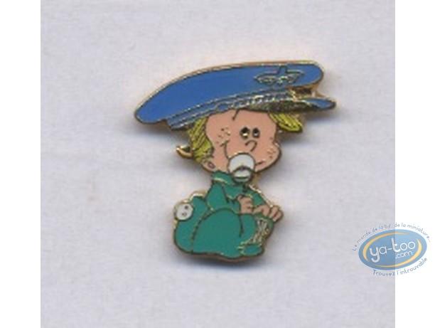 Pin's, BB de BD : Pin's, Boy with kepi