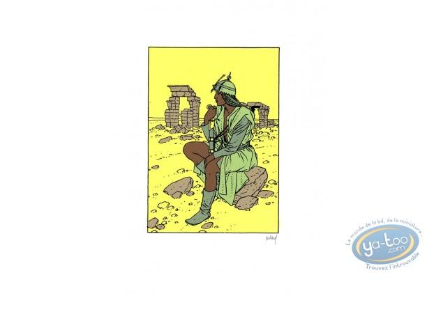 Serigraph Print, Quelque Chose de Bleu : Woman at war