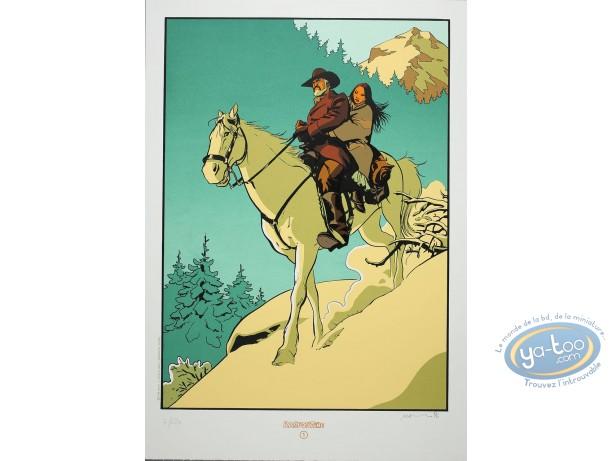 Serigraph Print, Etoile du Désert (L') : Riding a horse