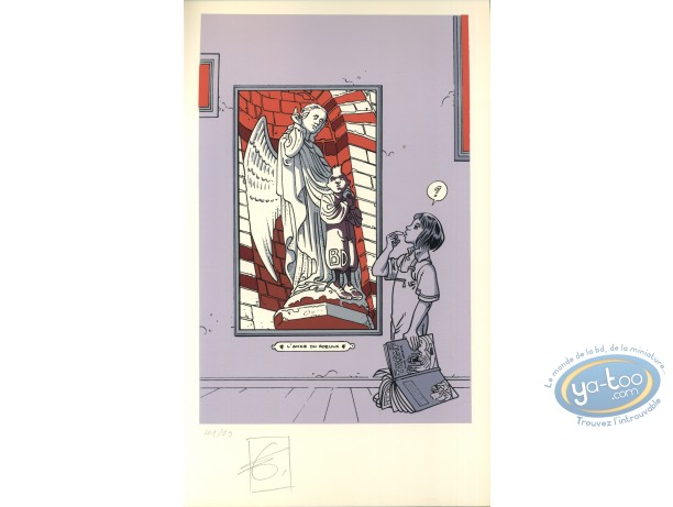 Bookplate Serigraph, The Roeulx Angel