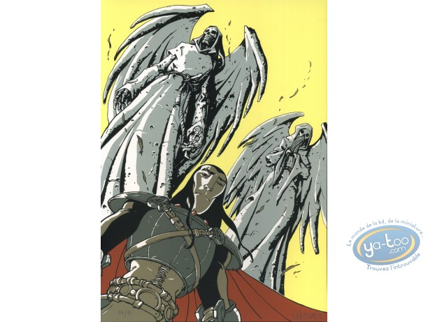 Bookplate Serigraph, Zorn et Dirna : Seldnör & the statues