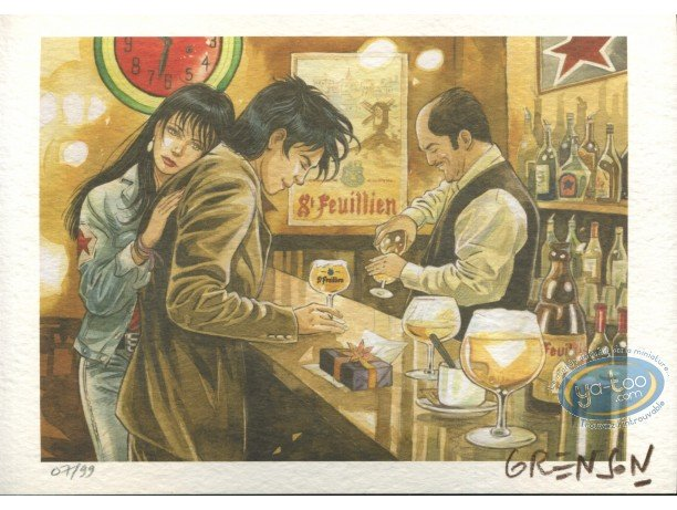 Bookplate Offset, Femme accident (La) : At the bar