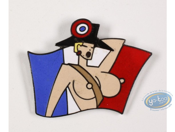 Pin's, 1789, la révolution Française : 1789, the French Revolution, girl and flag