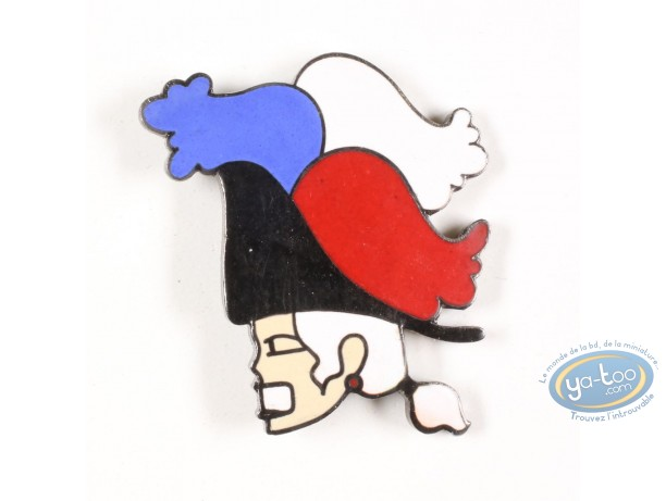 Pin's, 1789, la révolution Française : 1789, the French Revolution, soldier's head with three-colored cocked hat
