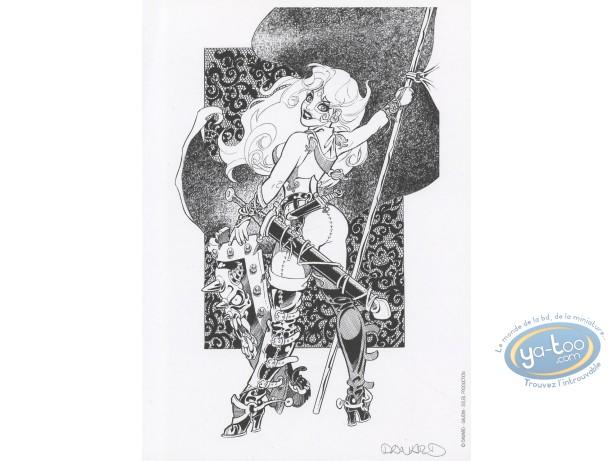 Bookplate Offset, Marlysa : Marlysa drapeau n&b