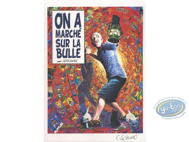 Bookplate Offset, On a marché sur la bulle