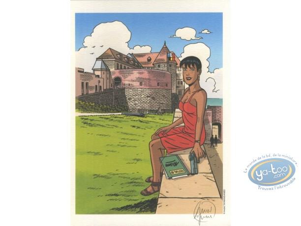 Bookplate Offset, Caroline Baldwin : Festival de Dieppe - 10 years
