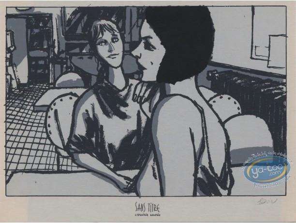 Bookplate Serigraph, Trois Allumettes : Women