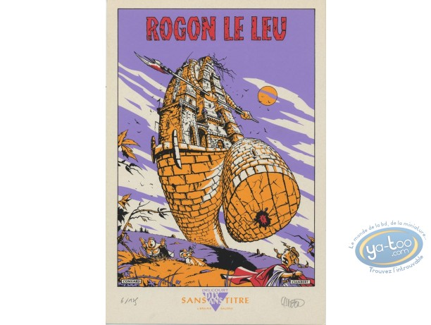 Bookplate Serigraph, Rogon le Leu : The Mad Tower