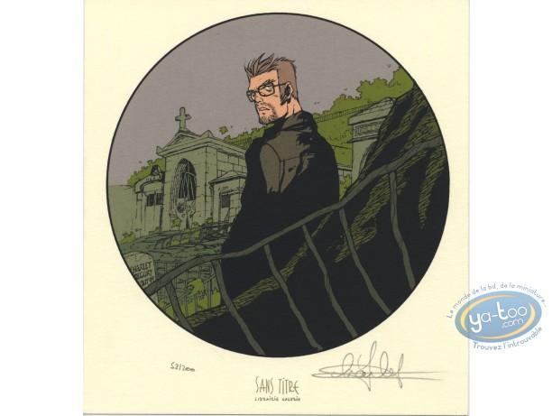 Bookplate Serigraph, Maître de Jeu (Le) : Cimetery