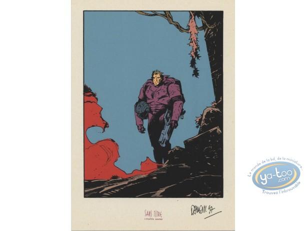 Bookplate Serigraph, Nash : Nash with war suit