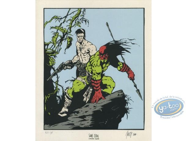 Bookplate Serigraph, Mort Linden : Warriors