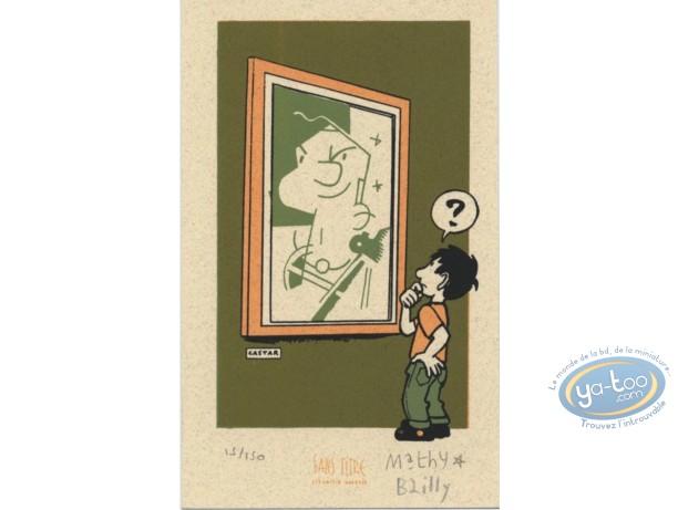 Bookplate Serigraph, Ludo : At the Museum