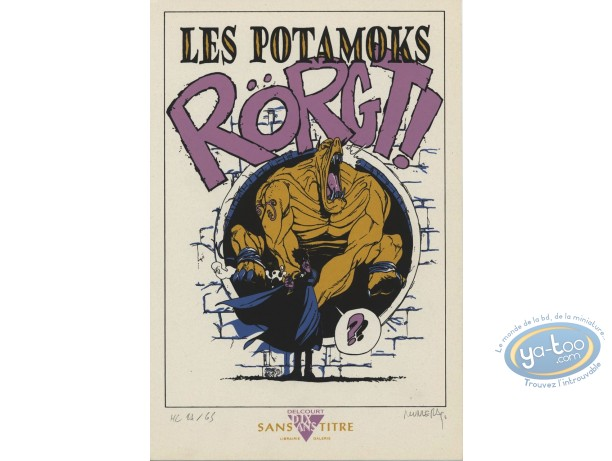 Bookplate Serigraph, Potamoks (Les) : Les Potamoks