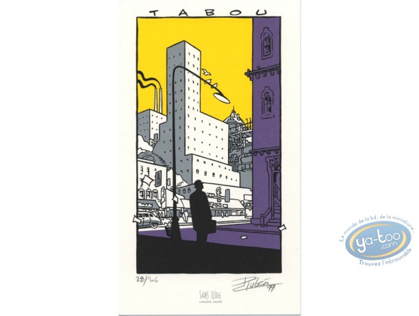 Bookplate Serigraph, Tabou : Tabou