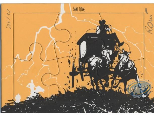 Bookplate Serigraph, Jim Cutlass : Stagecoach
