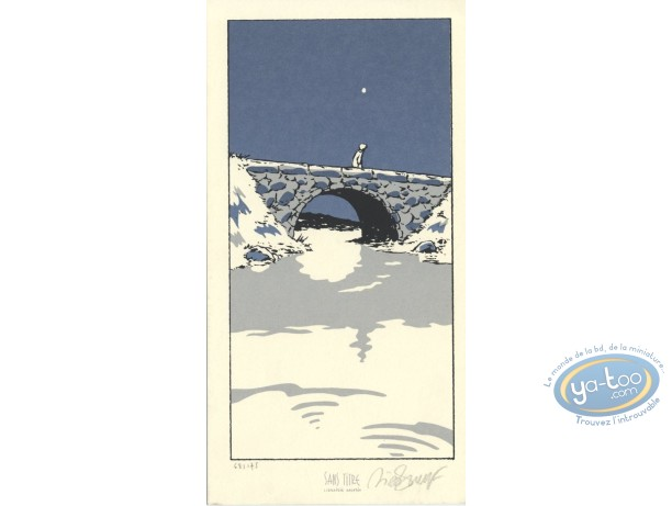Bookplate Serigraph, Petit Verglas : Bridge