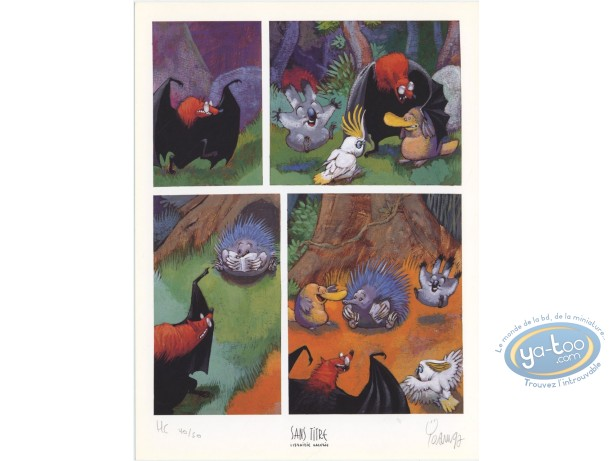 Bookplate Offset, Toto l'Ornithorynque : Toto and his friends