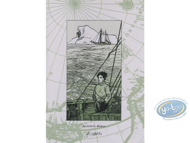 Bookplate Serigraph, Coeur en Islande (Le) : At sea