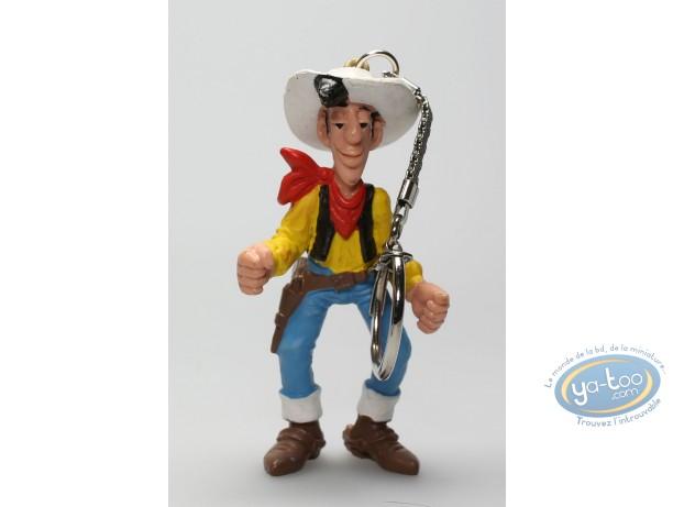 Plastic Figurine, Lucky Luke : Keyring Lucky Luke hands opened
