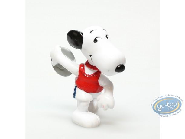 Plastic Figurine, Snoopy : Plastic figure, Schulz, Snoopy : Snoopy discus