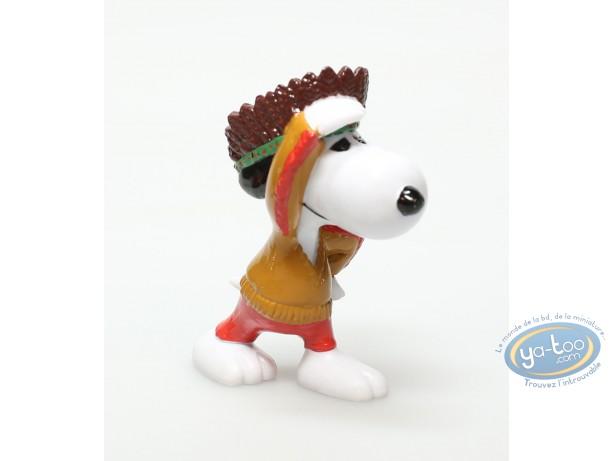 Plastic Figurine, Snoopy : Plastic figure, Schulz, Snoopy : Snoopy indian