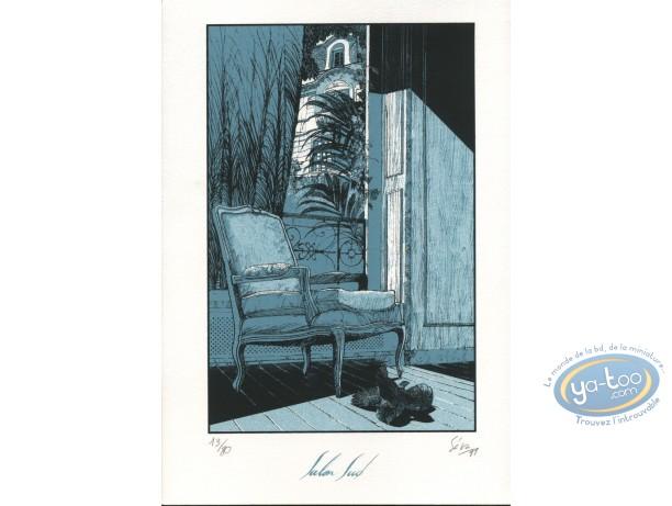 Bookplate Serigraph, Antichambre de la nuit : Séra, Antichambre de la nuit