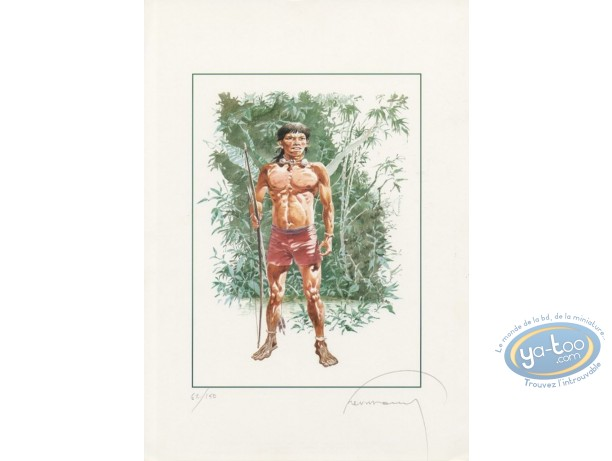 Offset Print, Indian from Amazonia