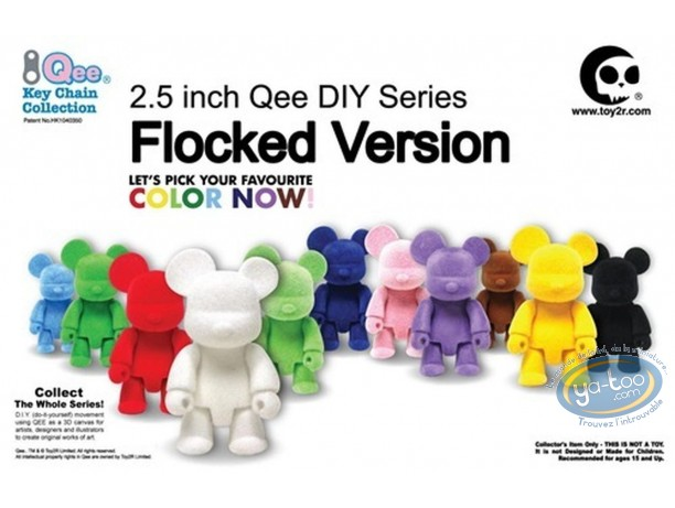 PVC Keyring, Quee : DIY Flocked version (9 models)