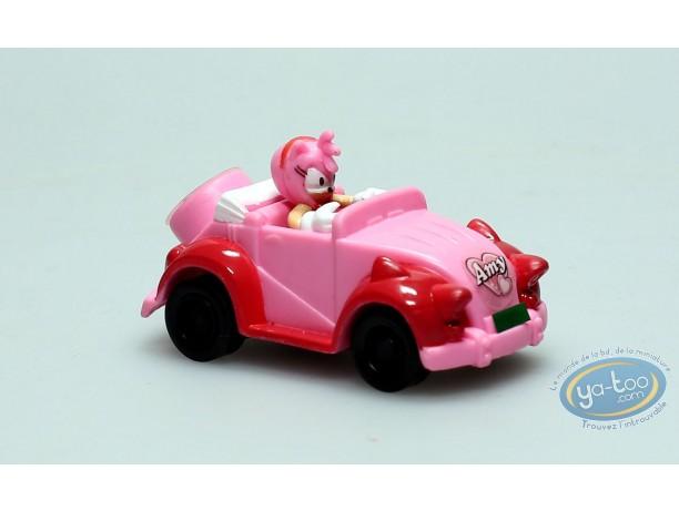 Plastic Figurine, Sonic : Amy in car