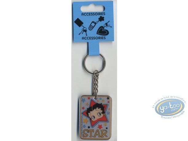 Metal Keyring, Betty Boop : Metal key ring : Betty Boop 'Star'