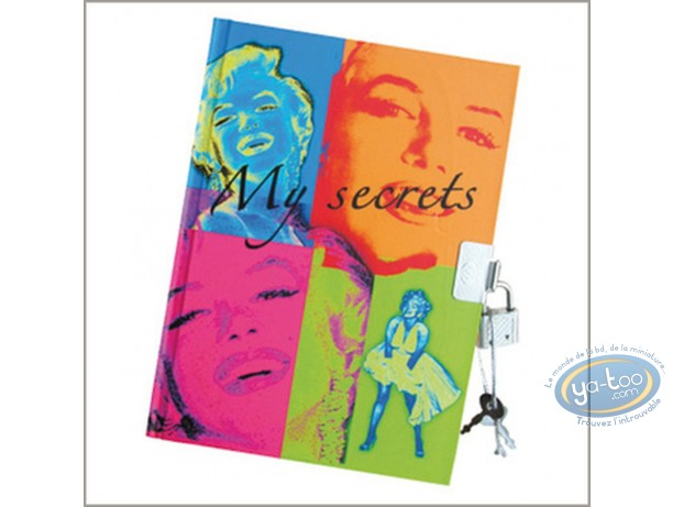 Notebook, Marilyn Monroe : Secret book Marilyn Monroe
