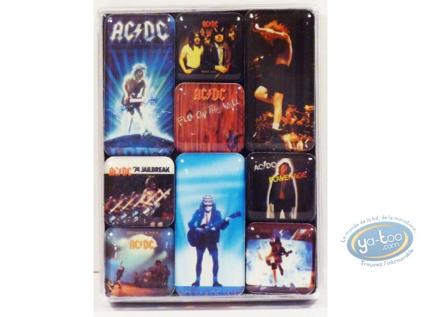 Magnet, AC / DC : Set of 9 Mini Magnets, AC/DC