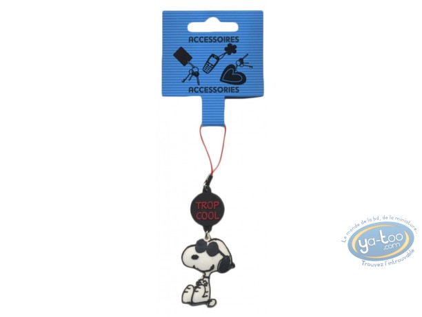 Mobile Accessory, Snoopy : Cellphone PVC hanger, Snoopy 'Trop Cool'