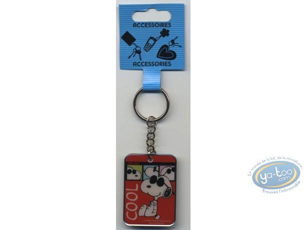 Metal Keyring, Snoopy : Metal Keyring, Snoopy 'Cool'