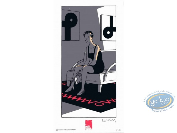 Bookplate Serigraph, Rochester (Les) : Reading Shaw