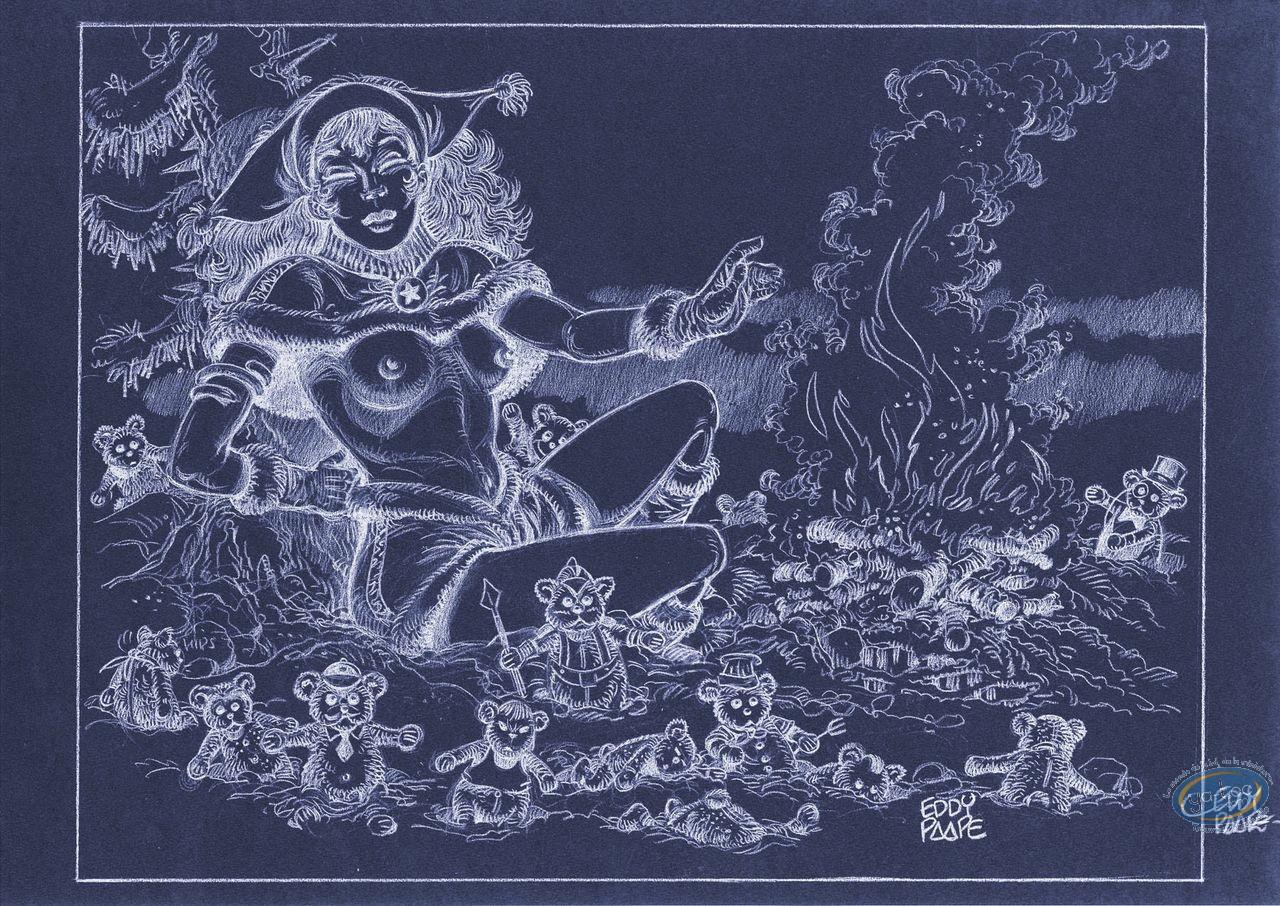 Offset Print, Luc Orient : Laura fire (negative)
