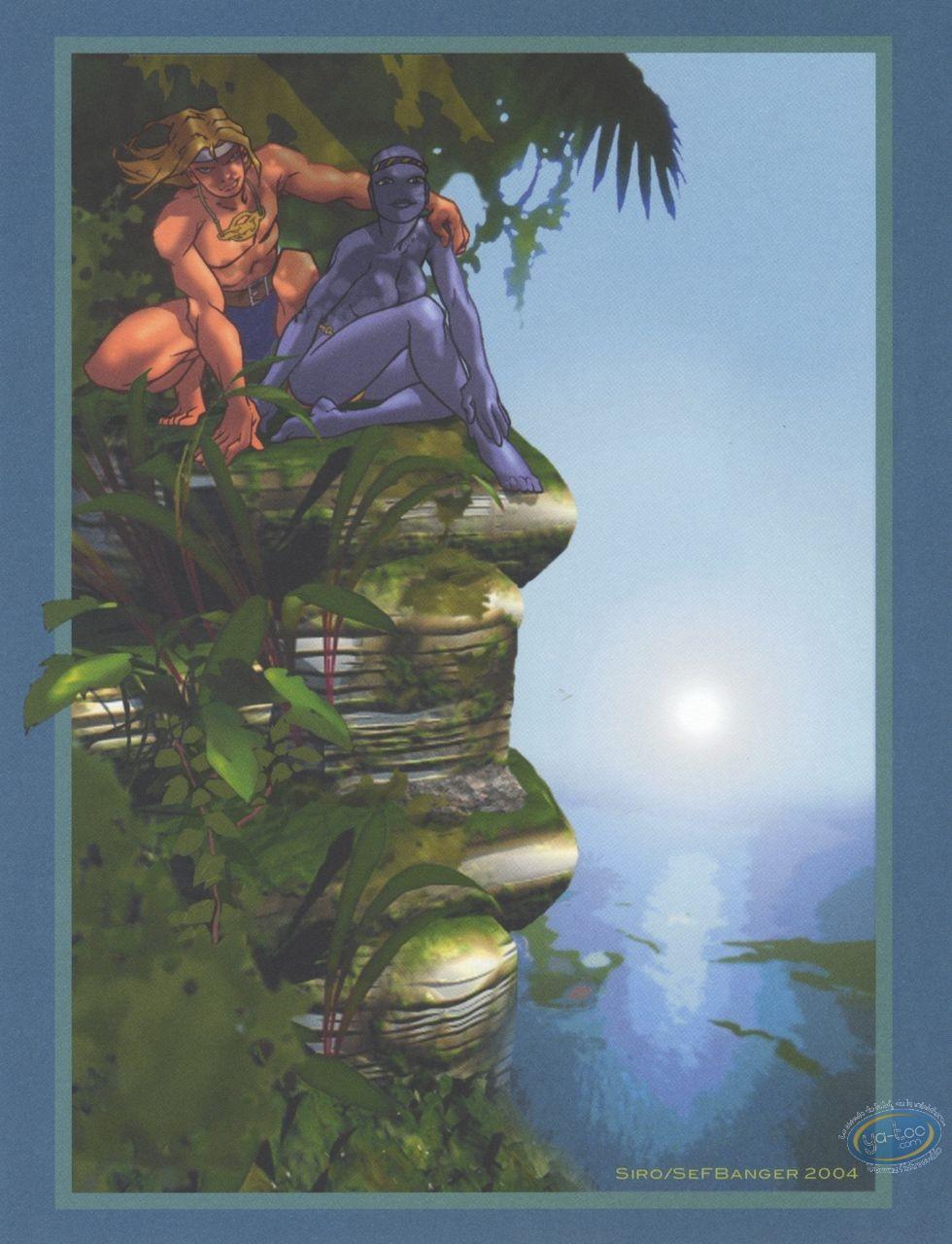 Bookplate Offset, Aquablue : Nao & Mi-nuee