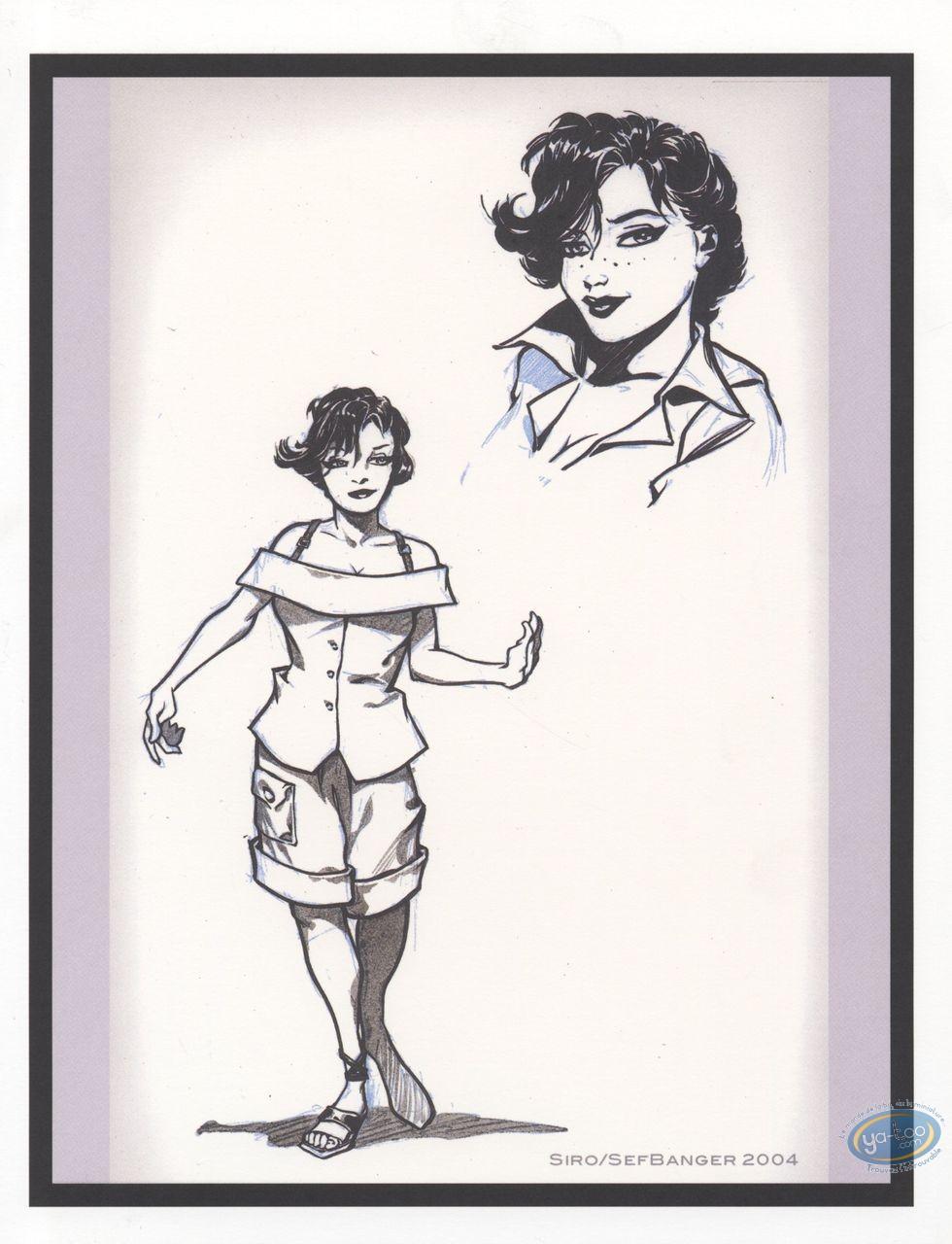 Bookplate Offset, Aquablue : Chiara (rough sketch)