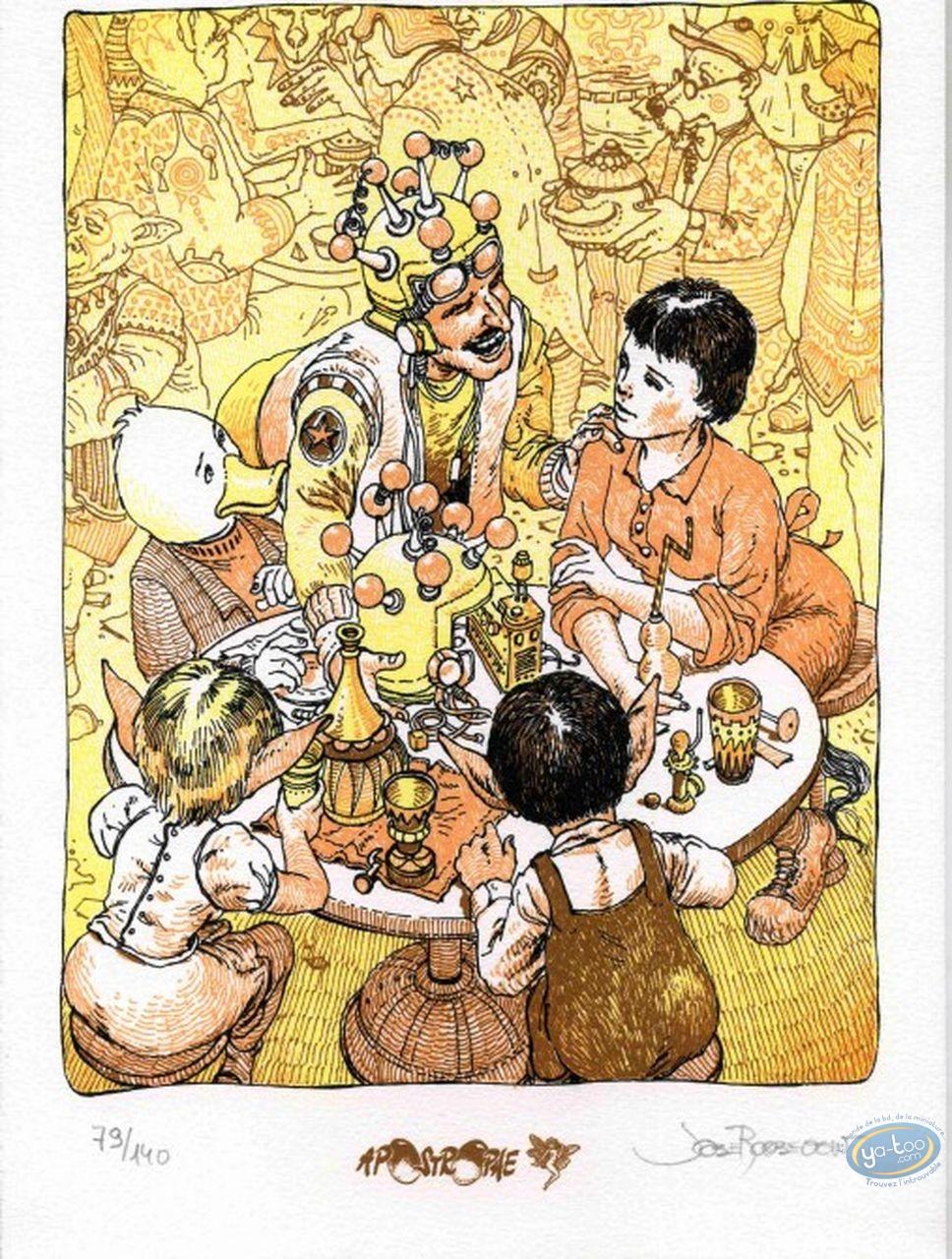 Bookplate Serigraph, Table de Vénus (La) : Around the Table