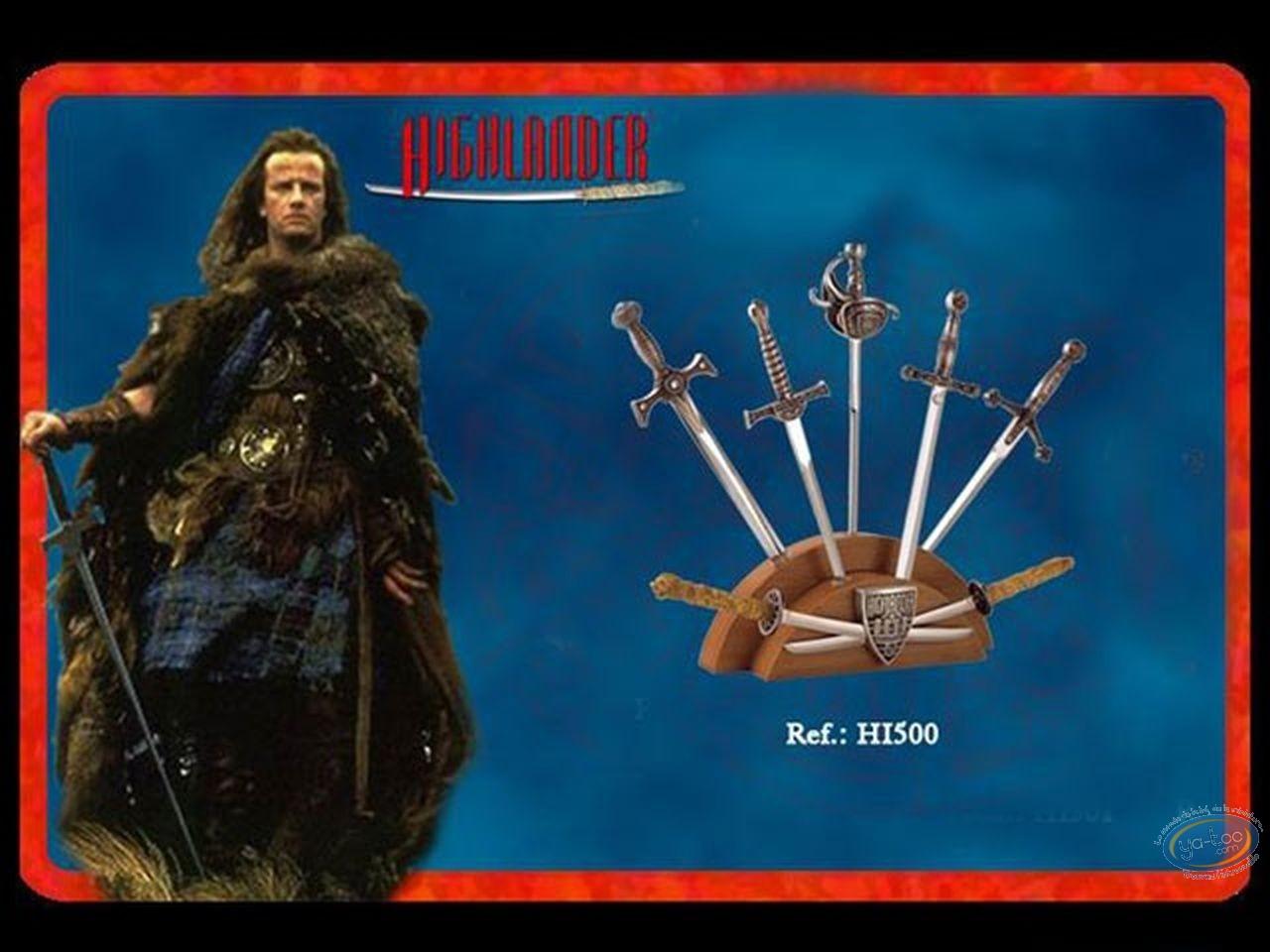 Metal Figurine, Highlander : mini swords silver version display