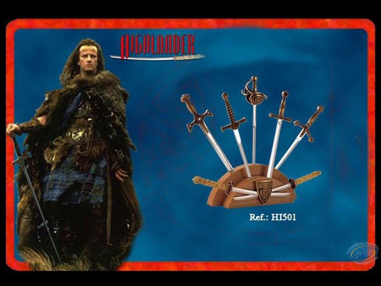 Movie Replica, Highlander : mini swords bronze version display