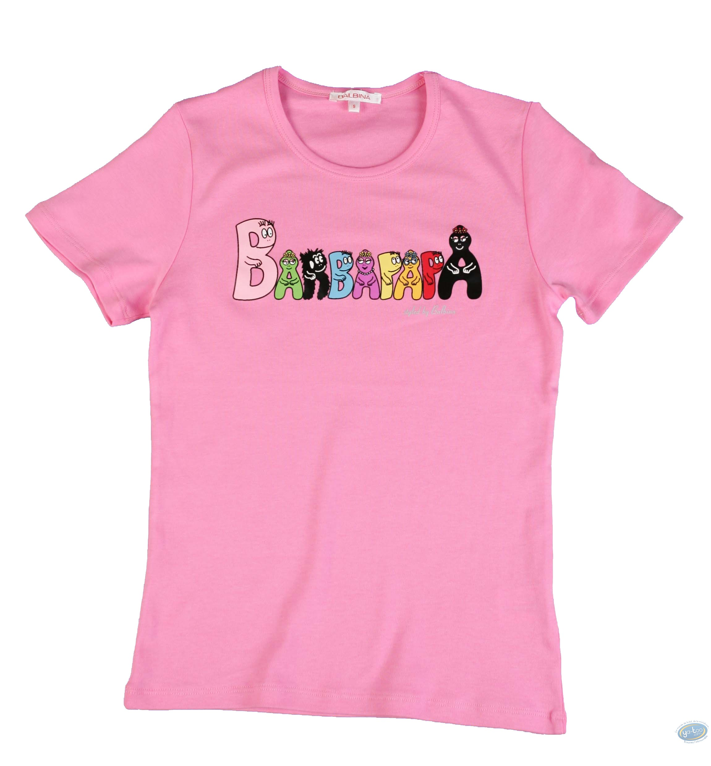 Clothes, Barbapapa : T-shirt long-sleeve pink Barbapapa: size L, logo