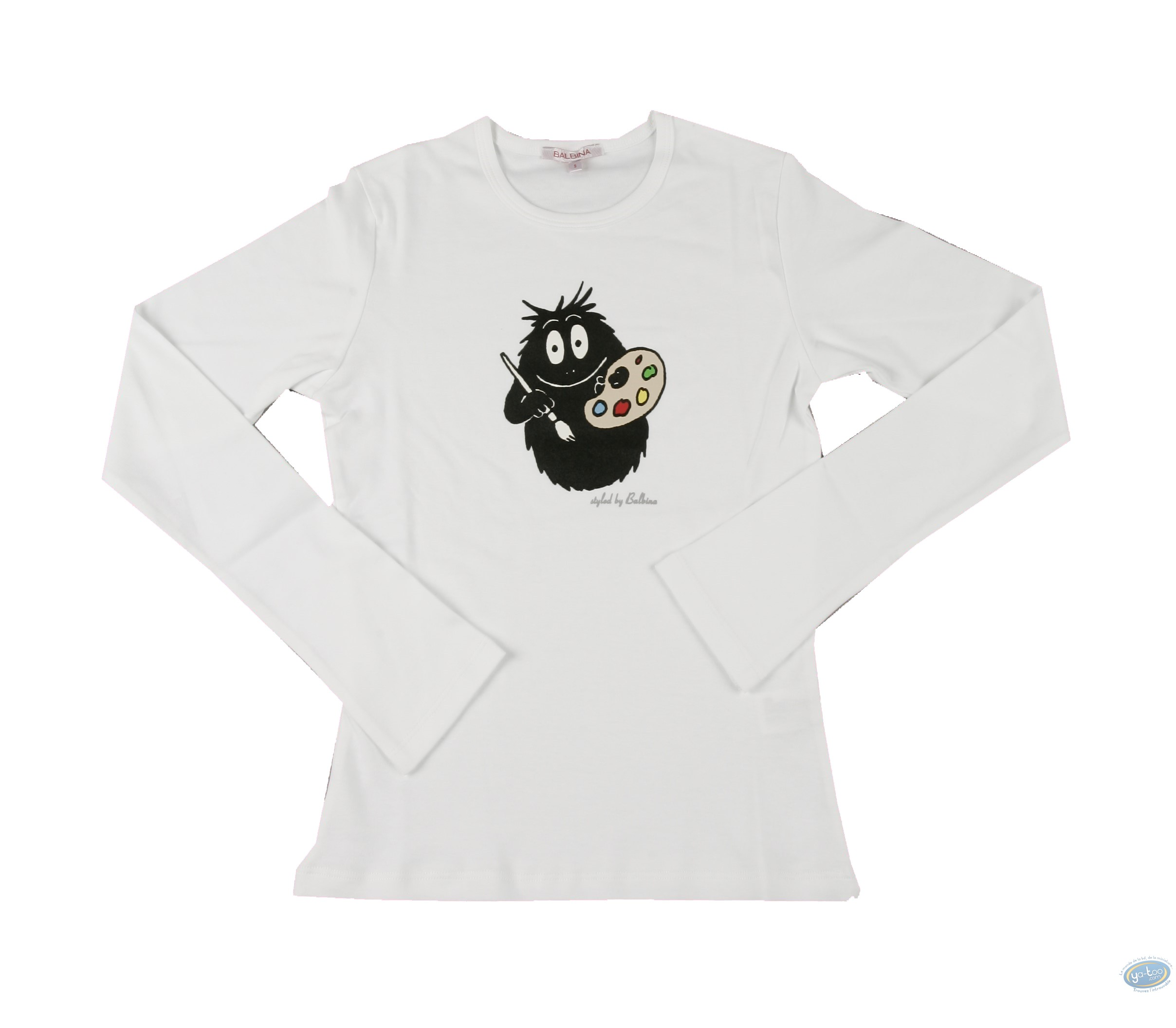 Clothes, Barbapapa : T-shirt long-sleeve white Barbapapa: size XS, painter