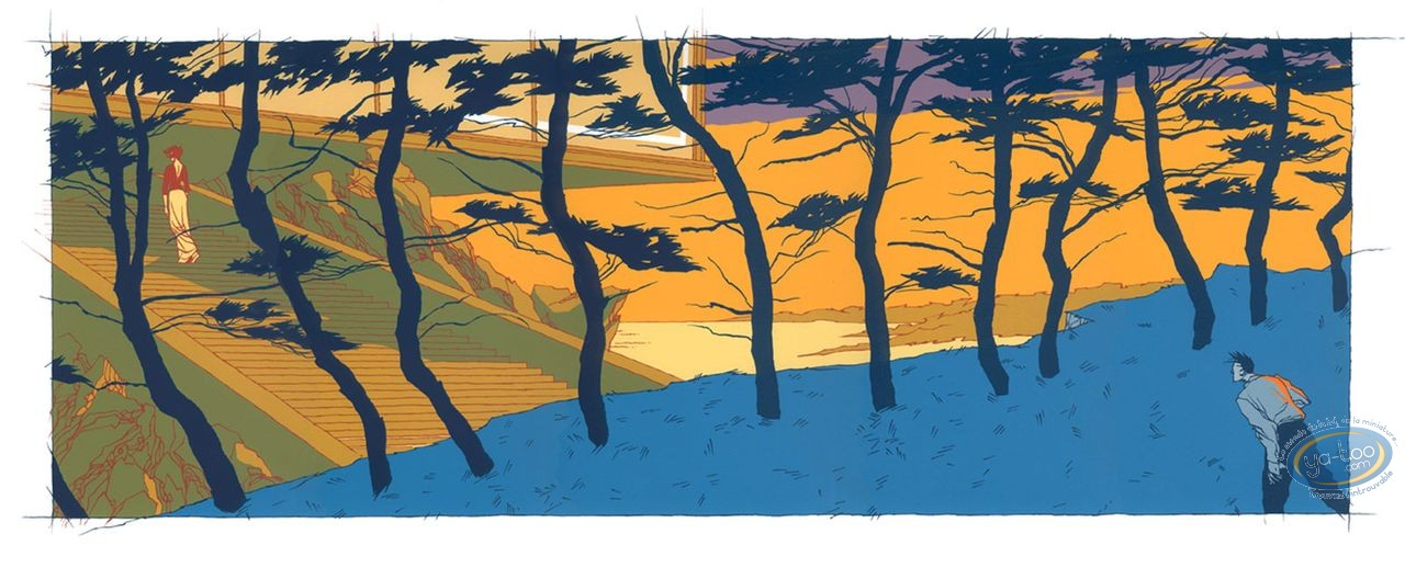 Serigraph Print, From dawn to midnight